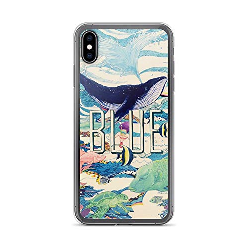 iPhone Xs Max Pure Clear Case Cases Cover Blue Ocean Animal Fantasy Watercolor Drawing