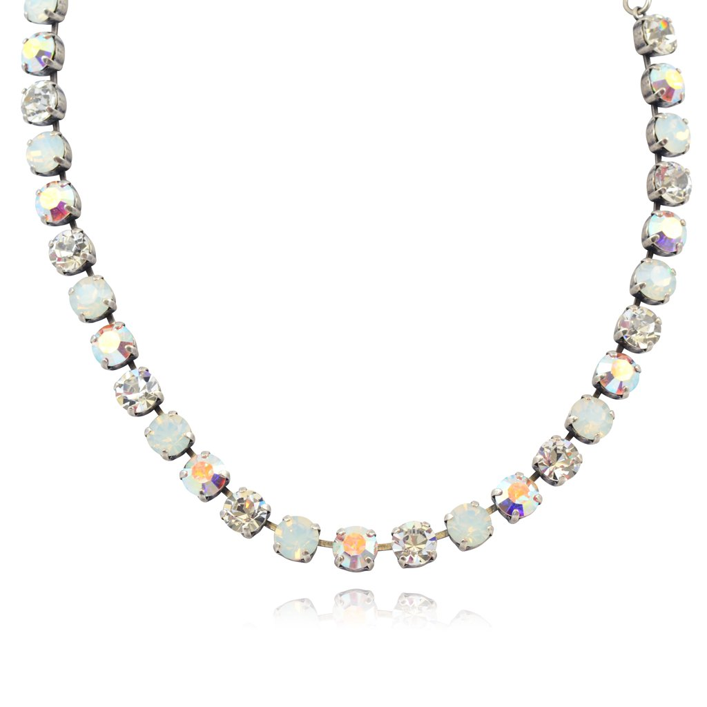 Mariana ''On A Clear Day'' Silver Plated Crystal Necklace, 18''