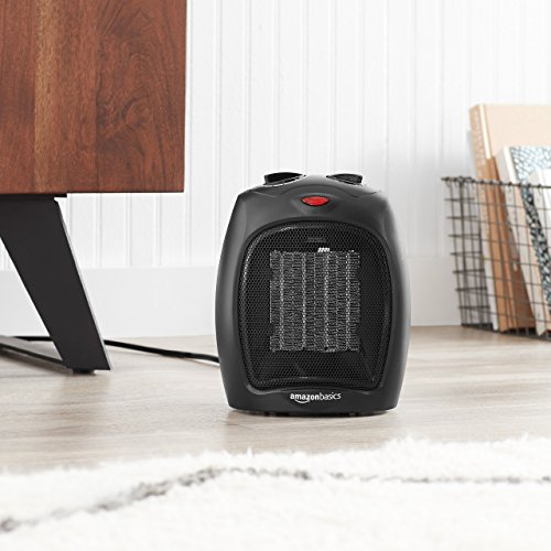 Large Product Image of AmazonBasics 1500 Watt Ceramic Space Heater with Adjustable Thermostat - Black