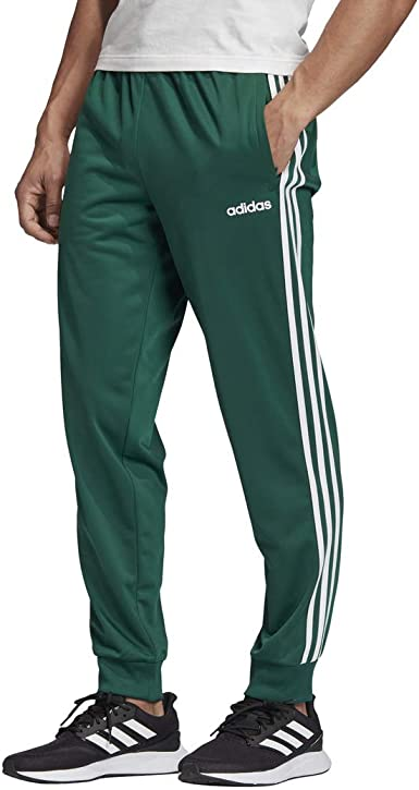 : adidas Men's Essentials 3 Stripes Tapered Tricot
