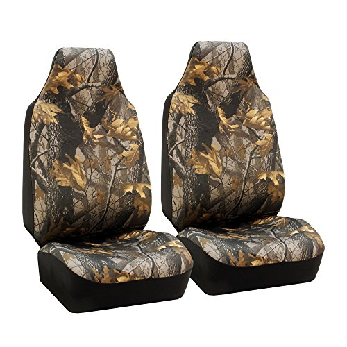 TLH Hunting Camouflage Seat Covers Front, Airbag Compatible-Universal Fit for Cars, Auto, Trucks, SUV