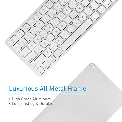 Macally Mac Keyboard Full-Size & Number Keypad (Metal Frame) 2 USB Ports Hub & Wired USB Cable - App - http://coolthings.us