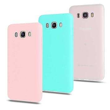CoqueCase 3X Funda para Samsung J7 2016 Silicona Suave Flexible Antigolpes Ultrafina Goma Ultra Delgado Color Protector Bumper Caja Tapa Carcasa ...