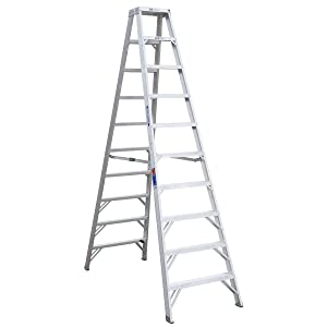 Werner (T310) Twin Step Ladder, Aluminum