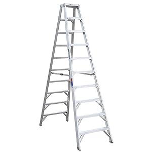 Werner (T310) Twin Step Ladder, Aluminum