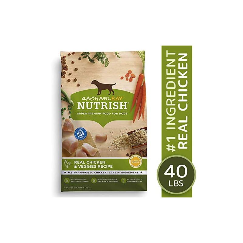 dog supplies online rachael ray nutrish natural premium dry dog food, real chicken & veggies recipe, 40 lbs
