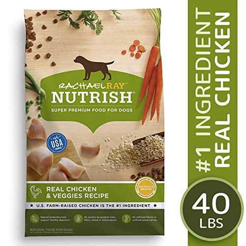 Rachael Ray Nutrish Natural Premium Dry Dog Food, Real Chicken & Veggies Recipe, 40 Lbs (Best Dog Food For The Money)