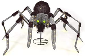 Home Accents 60 in. Warm White LED Animated Giant Spider - 60 in. x 65 in. x 24 in.