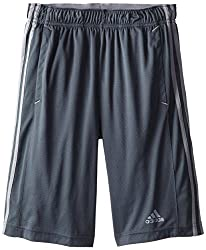 Adidas Men's Essentials 3-stripe Shorts, Dark Onixtech Grey, Medium
