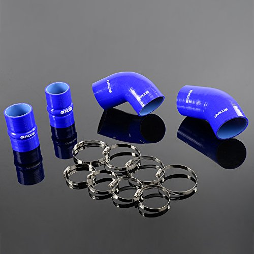 Silicone Intercooler Boost Hose Kit Clamps For chevrolet GMC 6.6L Duramax LLY 04-05 Blue ()