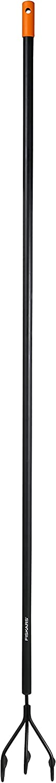 Lunghezza: 164 cm Nero//Arancione Per una preparazione e una cura ottimali delle aiuole Fiskars Coltivatore Larghezza: 12 cm Solid 1016034