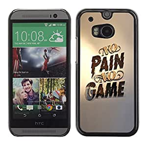 GOODTHINGS ( NO PARA HTC ONE MINI 2) Funda Imagen Diseño Carcasa Tapa Trasera Negro Cover Skin Case para HTC One M8 - no hay dolor no hay juego juegos pc de oro