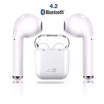 Auriculares in-Ear inalámbricos Bluetooth Auriculares reducción de Ruido, micrófono Incorporado Compatible con iOS X / 8/7/7 Plus / 6 / 6S Plus Galaxy S9/S8 ...