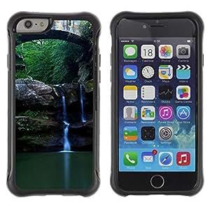 LASTONE PHONE CASE / Suave Silicona Caso Carcasa de Caucho Funda para Apple Iphone 6 / Nature Beautiful Forrest Green 89