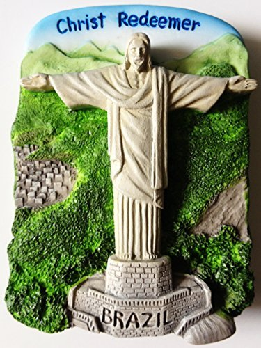 Christ Redeemer Rio De Janeiro Statue Brazil Resin 3D fridge Refrigerator Thai Magnet Hand Made Craft. by Thai MCnets (Christ Rio Redeemer Statue)