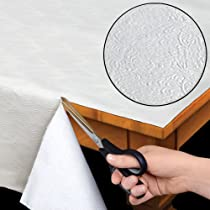 "Quilted Heavy Duty Table Pad Protector With Flannel Backing - Cut To Fit - 52"" x 70"""