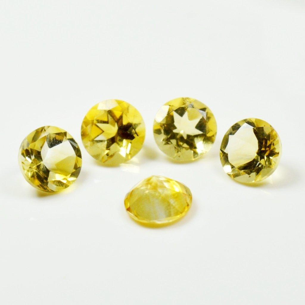 pierre citrine v/éritable /à facettes 5 carats lot de pierres pr/écieuses en vrac 5 pi/èces Caratyogi gu/érison en gros