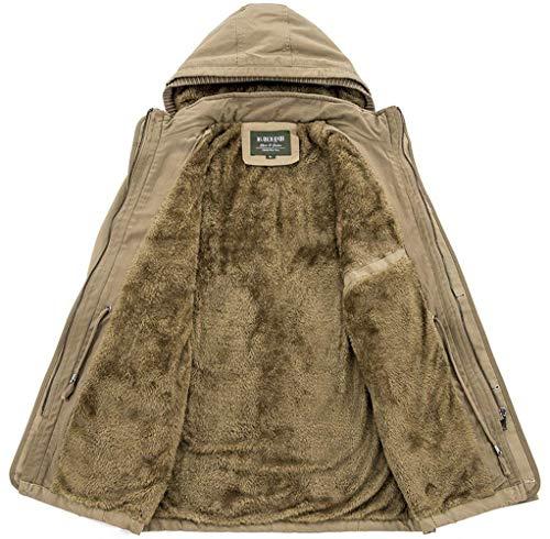 In Taglie Cappuccio Jacket Invernale Spesso Cotone Con Comode Da Cardigan Antivento Softshell Khaki Abiti Uomo Warm Staccabile Giacca Down Sweat YxwFdRd