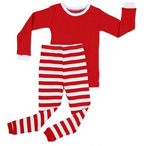 Elowel Red Top & Red White Pants Pajama Set Size 10