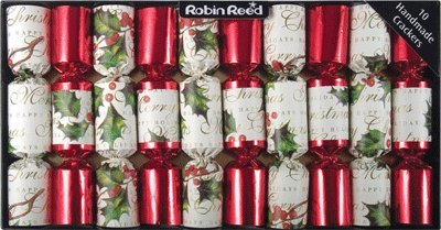 Christmas Cracker Designs (Robin Reed Bows & Berries Traditional English Christmas Crackers 10x8.5