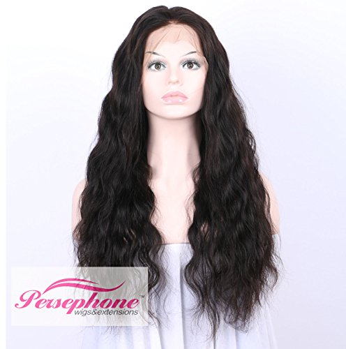 Persephone Glueless 200% Extra Heavy Density Body Wave 360 Lace Frontal Wigs Human Hair with Baby Hair Brazilian Remy Hair Lace Wig with Natural Hairline for Women Natural Color 22inches by Persephone (Image #1)