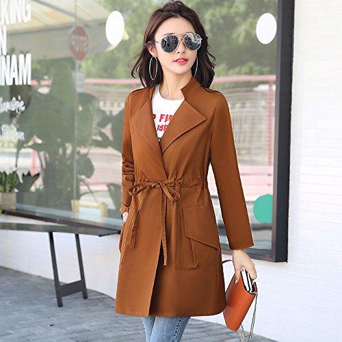 Stylish In Caramel Women'S Windbreaker Long Jackets Female SCOATWWH Loose Coats amp; Jacket Female Replace Collar nbsp; qYcwZt