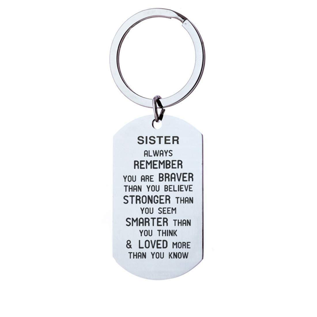 Oldlila Remember You are Braver Than You Believe Christmas Birthday Gifts for Sister/Brother,Sister