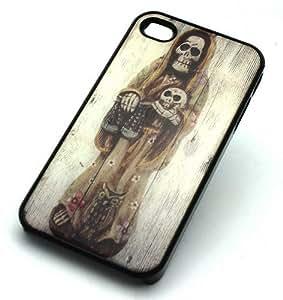 BLACK Snap On Hard Case iPhone 6 4.7 Plastic Skin Cover - MORBID WOMAN SKULL gypsy sugar dia de los muertos mexican