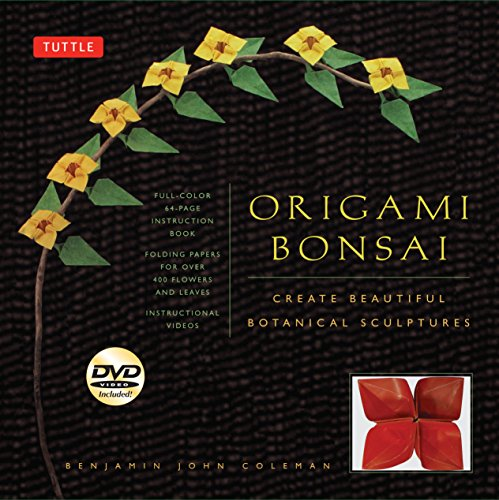 - Origami Bonsai Kit: Create Beautiful Botanical Sculptures: Includes Origami Book with 14 Beautiful Projects, 48 Origami Papers and Instructional DVD