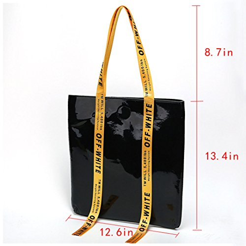 Black Bag Capacity Beach Clear Women Boutique Large Goodbag Waterproof Girl Hologram Travel Shoulder Bag wxaHXO