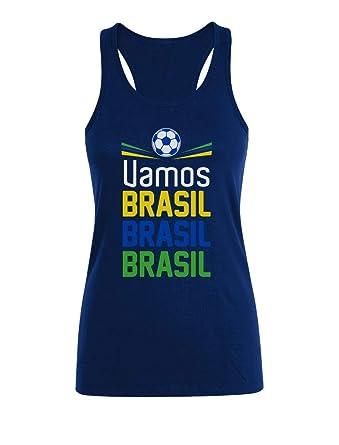 Camiseta sin Mangas para Mujer - Apoya a la selección Brasil en el ...