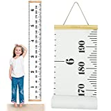 "I2USHOP Baby Growth Chart Handing Ruler Wall Decor for Kids Room, Canvas Removable Height Growth Chart 79"" x 7.9"""