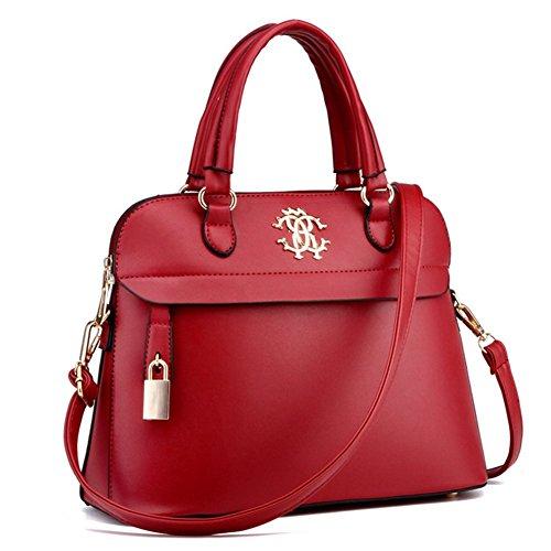 - KaiSasi 2016 New Wave Of High-Grade Temperament Leather Shoulder Messenger Bag(Redwin)