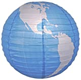 Quasimoon PaperLanternStore.com 16'' World Paper Lantern (10 Pack)
