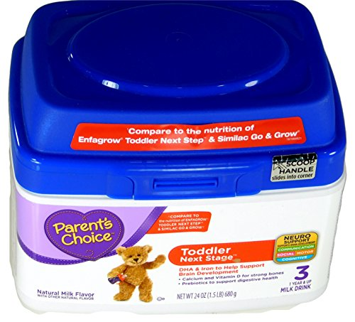 Parents Choice Toddlers Next Stage Powdered Milk Drink Ages 1+ 1.5 lbs.