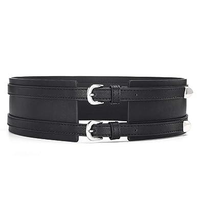 vendita calda disponibilità nel Regno Unito online in vendita ZBYHCH Cintura da donna con cintura a doppia fibbia con cintura ...