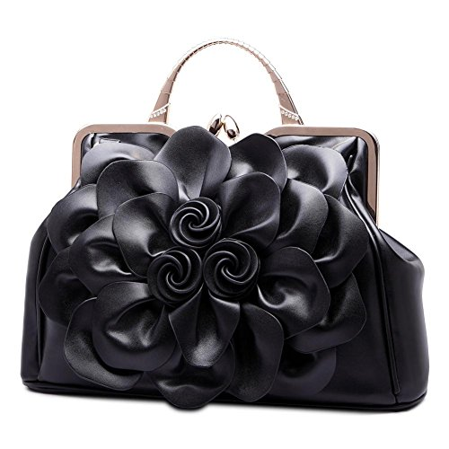 Formal Totes Purses SUNROLAN Ethnic Party Wallets Wedding Handbags Clutches Black Wristlets Evening Satchel Women's xrHqwCFHIP