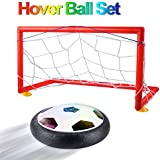 Tigerhu Kids Toys, Hover Ball Set with 2 Gates, Air Power Soccer Disc with LED Training Football Indoor Outdoor for Boys, Girls Gift