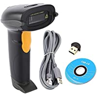 NADAMOO Wireless Barcode Scanner Supports Windows Mac OS Android IOS 1D Handheld Cordless Barcode Reader Bar Code Scanner Work With Ipad Iphone Android Phone Tablet Computer