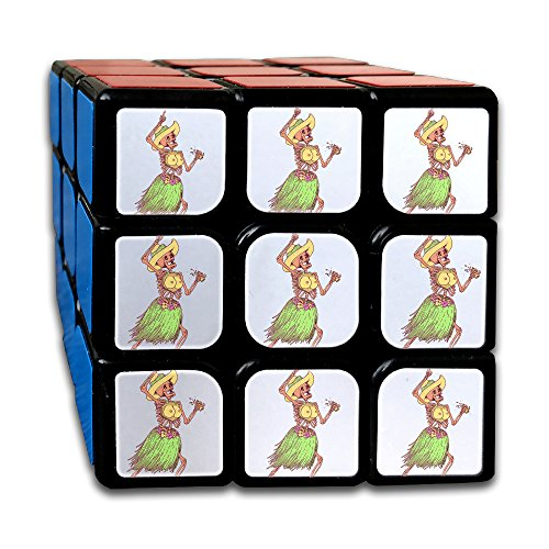 Funny Dancing Skull Man's Party Time3x3 Magic Cube Puzzles Toys Best Gift For Kids by NVLILO