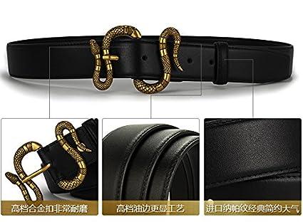 bc231614e8c SZAWSL Ceinture homme en cuir avec Tête de serpent boucle d ardillon  ceinture élégante Noir Marron Ceinture  Amazon.fr  Vêtements et accessoires
