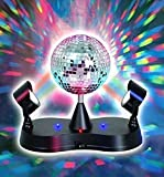 Kidsco Multi Color LED Strobe Light Mirror Disco Ball