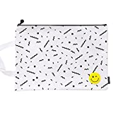 Cute File Bag Stationery Bag Pouch File Envelope for Office/School Supplies, Large White