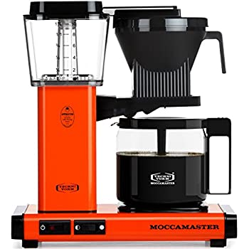 Moccamaster KBG 741 10-Cup Coffee Brewer with Glass Carafe, Orange
