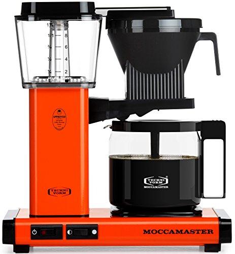 Technivorm Moccamaster 59652 KBG Coffee Brewer, 40 oz, Orange