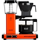 Technivorm Moccamaster KBG 59652 10-Cup Coffee Brewer with Glass Carafe, Orange