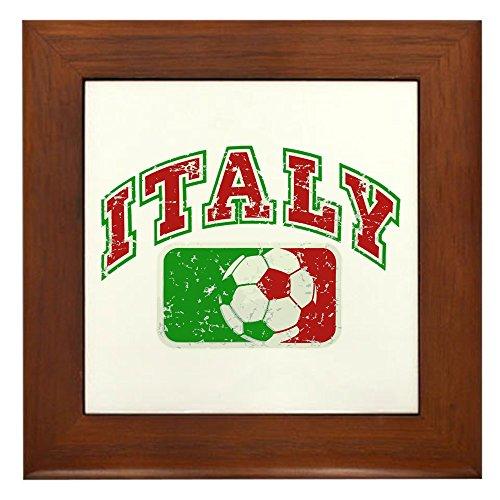 Framed Tile Italy Soccer Grunge Italian Flag