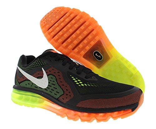 Nike Air Max 2014 Mens Löparskor, Storlek 11,5 Svart / Segel / Atom Orange / Volt