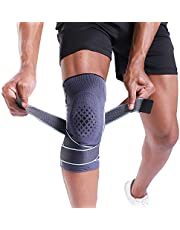 Knee Brace - BERTER Knee Compression Sleeve - Men Women Non-Slip Knee Support Stability - for Running, Weightlifting, Baseball, Crossfit, Working Out
