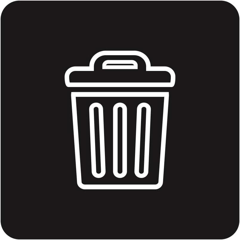 Mobius Loop-Waste 6 Pack 3.88 x 3.88 Labels Black-Blue-White